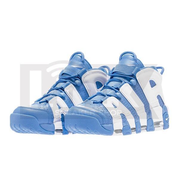 NIKE AIR MORE UPTEMPO UNC UNIVERSITY BLUE/WHITE sneaker-shop-link 02