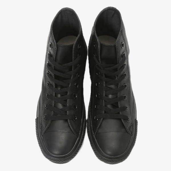 定番 コンバース スニーカー レザー オールスター ハイ ブラックモノクローム CONVERSE LEA ALL STAR HI 1C075 sneaker-soko 03