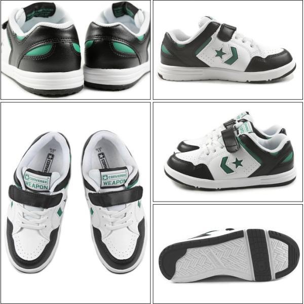 10%OFF 子供 コンバース CONVERSE KIDS WEAPON N キッズ ウエポン N ブラック/ホワイト/グリーン|sneaker-soko|02