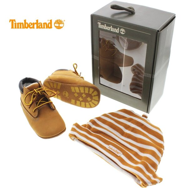 30%OFF 子供 ティンバーランド Timberland CRIB BOOTIE WITH HAT クリブ ブーティ ウィズ ハット ウィート 9589R|sneaker-soko