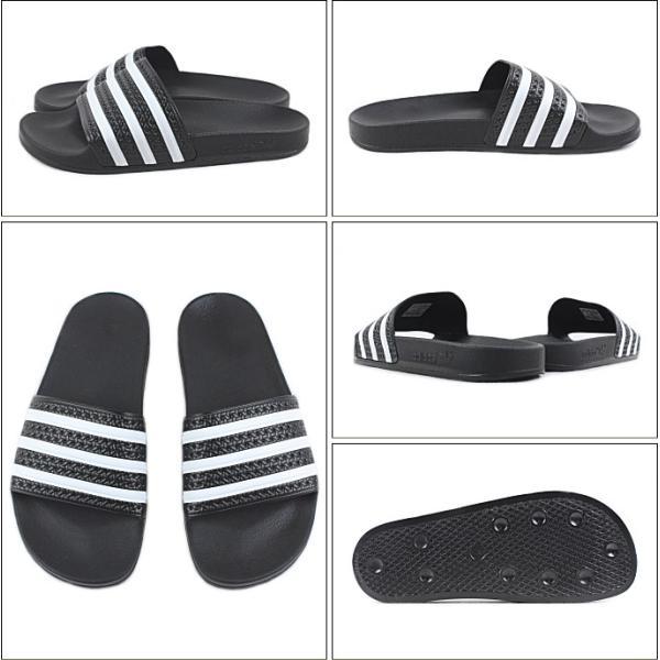 SALE 定番 アディダス adidas ADILETTE アディレッタ ブラック/ホワイト/ブラック 280647