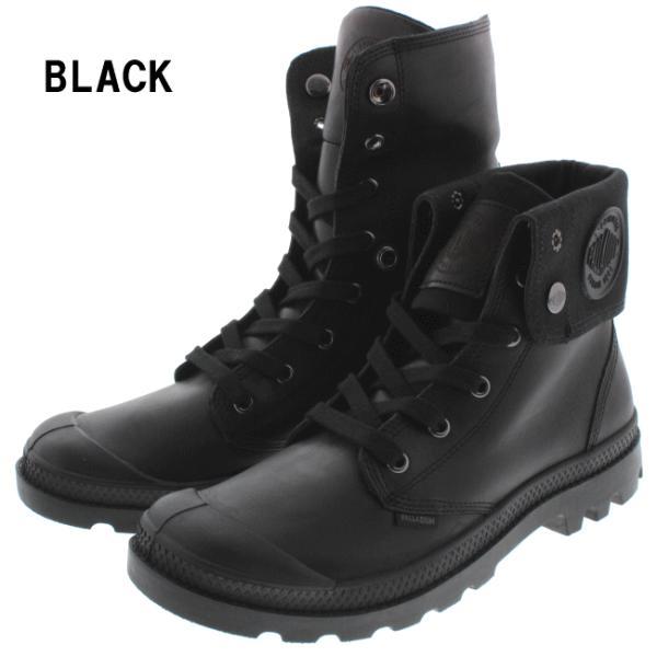 SALE パラディウム PALLADIUM ブーツ バギー レザー BAGGY LEATHER 02356 ブラック(001)サンライズ/チョコレート(237)|sneaker-soko|02