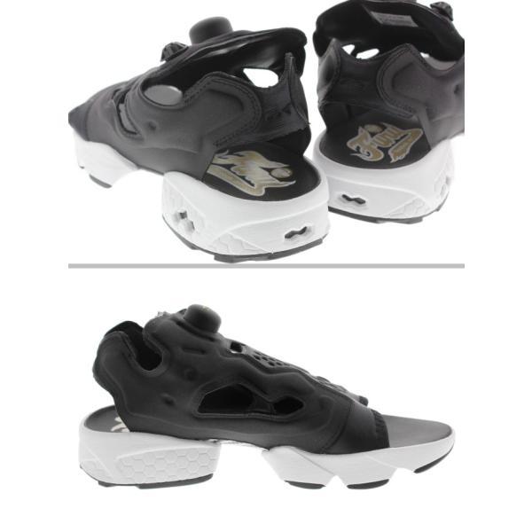 リーボック Reebok インスタポンプフューリー サンダル INSTAPUMP FURY SANDAL ブラック/ホワイト/ゴールドメタリック V69436|sneaker-soko|02
