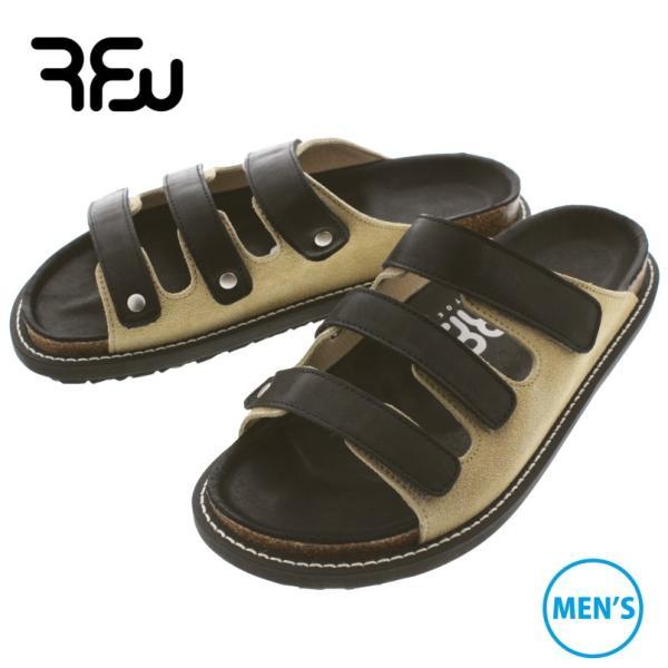 アールエフダブリュー RFW メンズ サンダル パフィン 3 PUFFIN 3 F-1915212 ブラック/ベージュ sneaker-soko