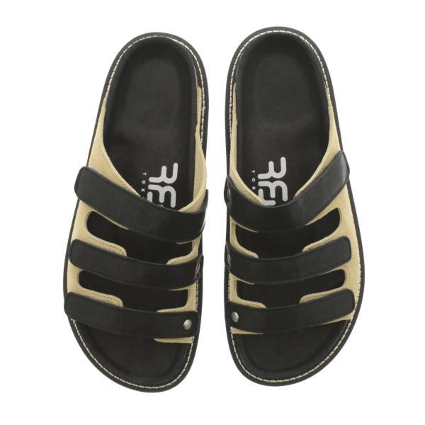 アールエフダブリュー RFW メンズ サンダル パフィン 3 PUFFIN 3 F-1915212 ブラック/ベージュ sneaker-soko 04