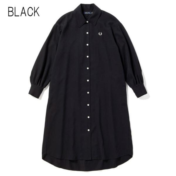 フレッドペリー FRED PERRY ウェア ウーブン シャツ ドレス WOVEN SHIRT DRESS F8519 ブラック(07) オリーブ(46)|sneaker-soko|06