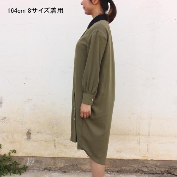 フレッドペリー FRED PERRY ウェア ウーブン シャツ ドレス WOVEN SHIRT DRESS F8519 ブラック(07) オリーブ(46)|sneaker-soko|02