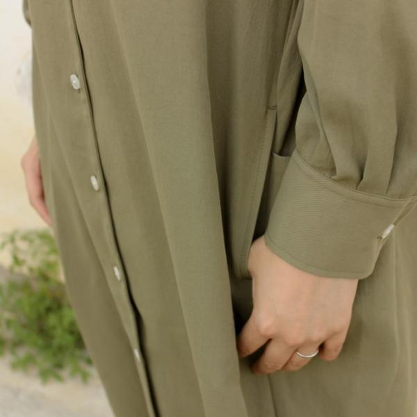 フレッドペリー FRED PERRY ウェア ウーブン シャツ ドレス WOVEN SHIRT DRESS F8519 ブラック(07) オリーブ(46)|sneaker-soko|05