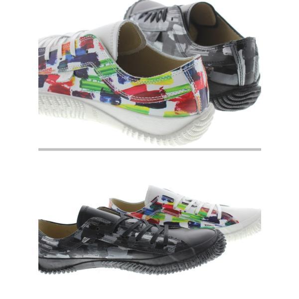 交換返品送料無料 スピングルムーヴ スピングルムーブ スニーカー SPM-157 ホワイト(61) ブラック(5)|sneaker-soko|02