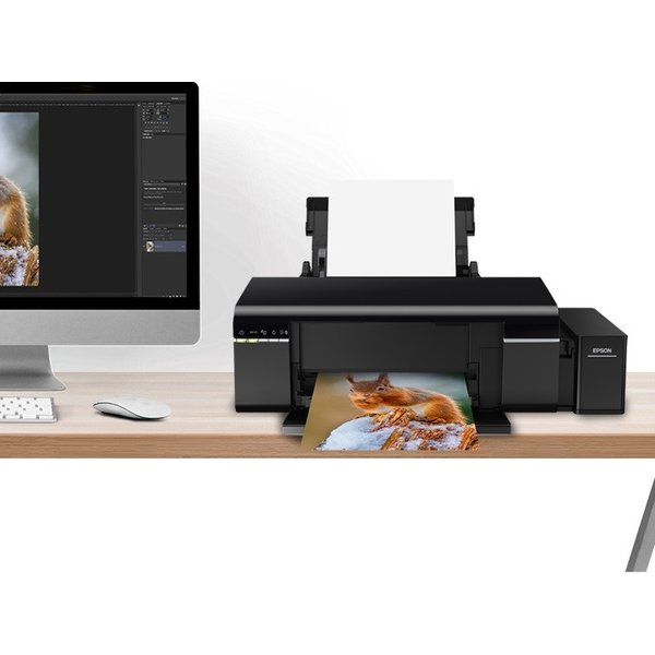 EPSON L805 純正エコタンク搭載プリンター フォトプリンタ Wi-Fi 高速印刷6色写真プリンタ A4まで  インク同梱 海外並行 sneakerfreak