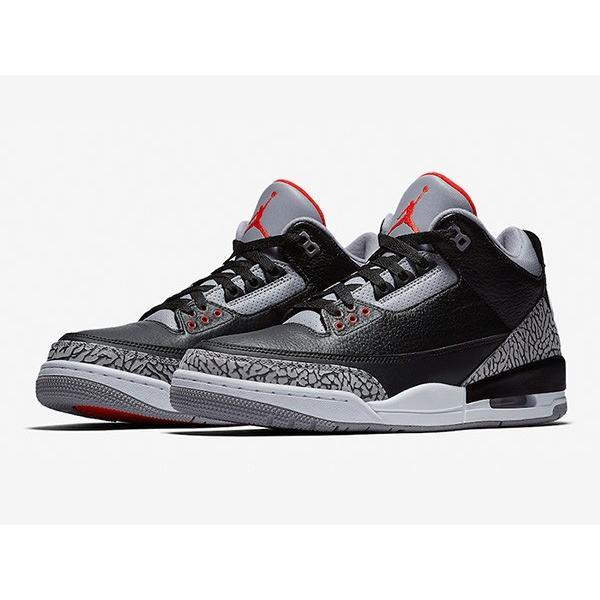 AIR JORDAN 3 RETRO OG 'BLACK CEMENT' エア ジョーダン 3 レトロ ブラック セメント 【MEN'S】 black/cement grey-white-fire red 854262-001 sneakerplusone