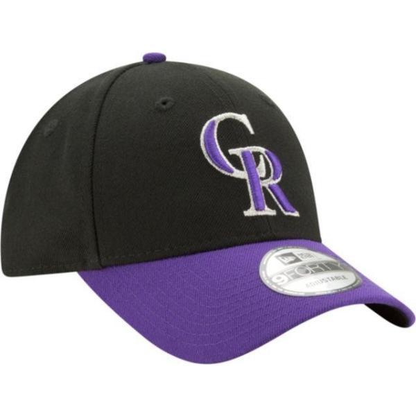 ニューエラ メンズ 帽子 キャップ Men's Colorado Rockies 9Forty Black Adjustable Hat|sneakersuppliers|03