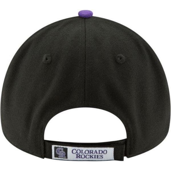 ニューエラ メンズ 帽子 キャップ Men's Colorado Rockies 9Forty Black Adjustable Hat|sneakersuppliers|04