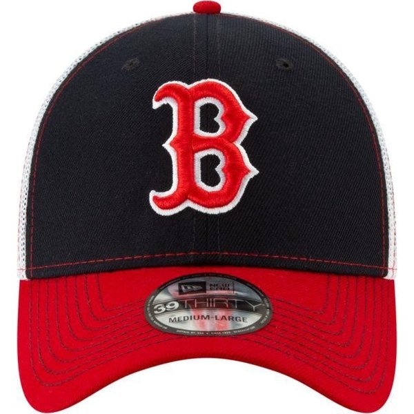 ニューエラ メンズ 帽子 キャップ Men's Boston Red Sox 39Thirty Practice Piece Stretch Fit Hat|sneakersuppliers|02