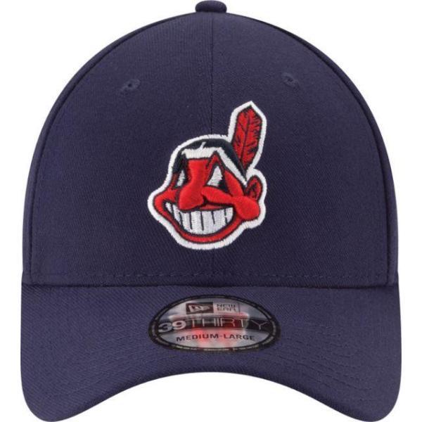 ニューエラ メンズ 帽子 キャップ Men's Cleveland Indians 39Thirty Classic Navy Stretch Fit Hat|sneakersuppliers|02