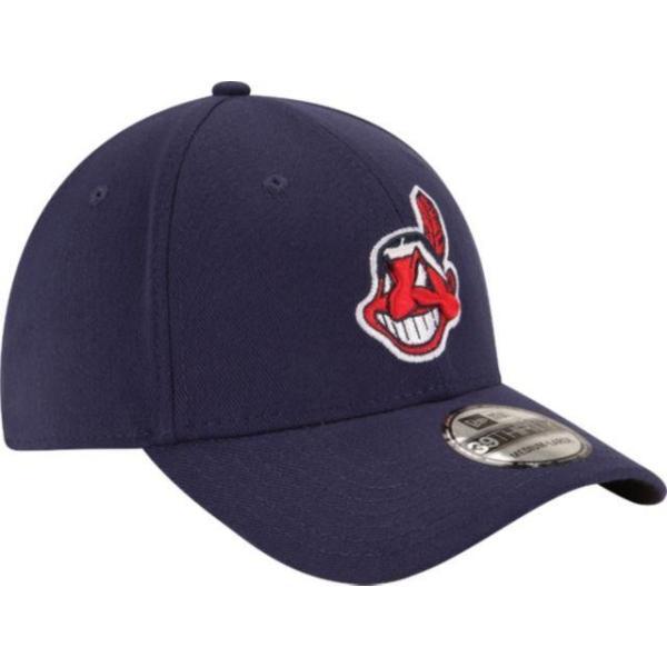 ニューエラ メンズ 帽子 キャップ Men's Cleveland Indians 39Thirty Classic Navy Stretch Fit Hat|sneakersuppliers|03