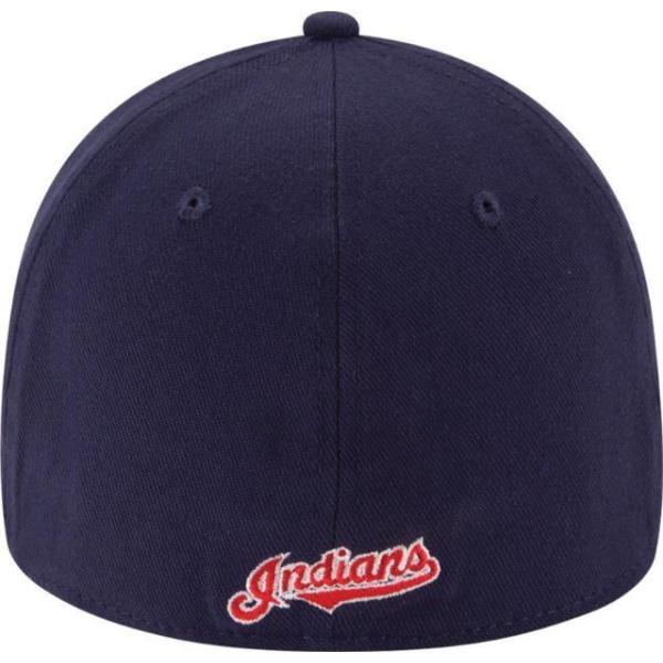 ニューエラ メンズ 帽子 キャップ Men's Cleveland Indians 39Thirty Classic Navy Stretch Fit Hat|sneakersuppliers|04