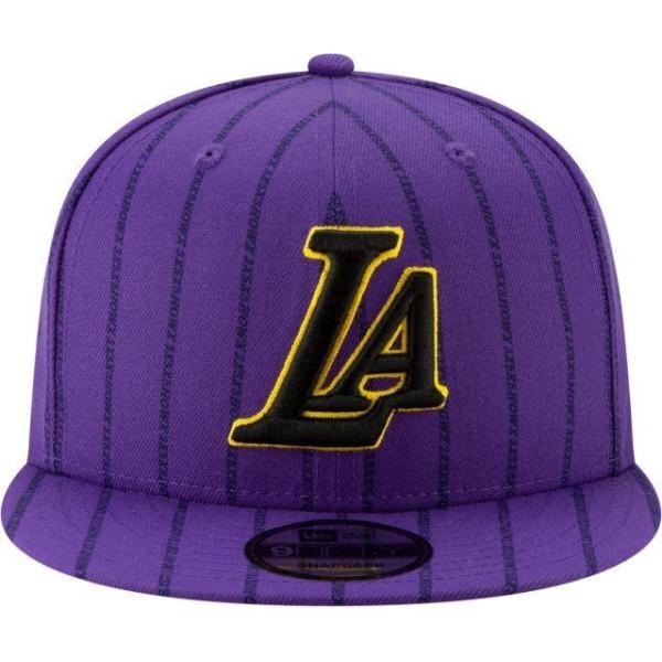 ニューエラ メンズ 帽子 キャップ Men's Los Angeles Lakers 9Fifty City Edition Adjustable Snapback Hat|sneakersuppliers|02