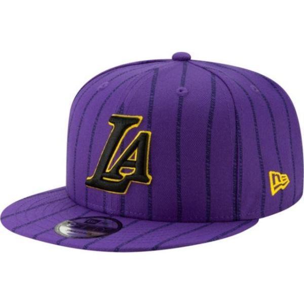 ニューエラ メンズ 帽子 キャップ Men's Los Angeles Lakers 9Fifty City Edition Adjustable Snapback Hat|sneakersuppliers|03