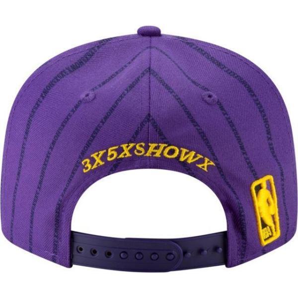 ニューエラ メンズ 帽子 キャップ Men's Los Angeles Lakers 9Fifty City Edition Adjustable Snapback Hat|sneakersuppliers|04