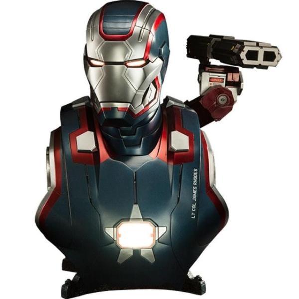 ユニセックス グッズ Sideshow Collectibles Iron Patriot Iron Man 3 Life-Size Bust (blue / red)|sneakersuppliers
