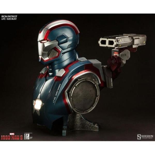 ユニセックス グッズ Sideshow Collectibles Iron Patriot Iron Man 3 Life-Size Bust (blue / red)|sneakersuppliers|02