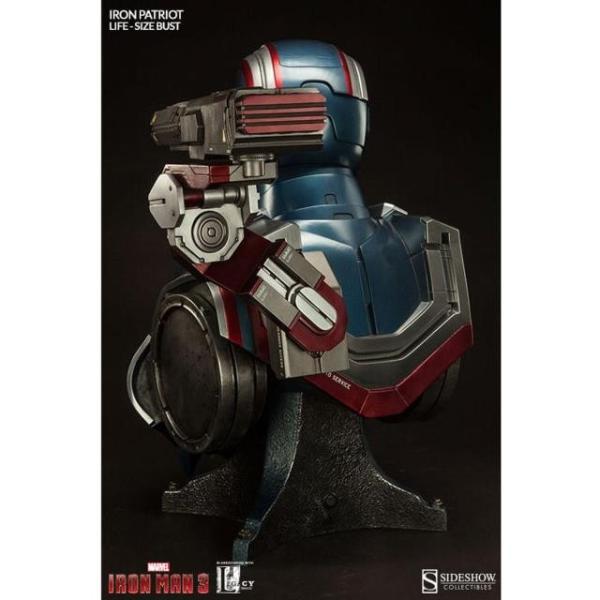 ユニセックス グッズ Sideshow Collectibles Iron Patriot Iron Man 3 Life-Size Bust (blue / red)|sneakersuppliers|03