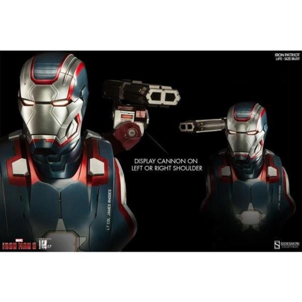 ユニセックス グッズ Sideshow Collectibles Iron Patriot Iron Man 3 Life-Size Bust (blue / red)|sneakersuppliers|04