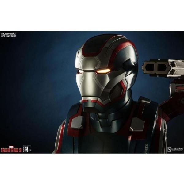 ユニセックス グッズ Sideshow Collectibles Iron Patriot Iron Man 3 Life-Size Bust (blue / red)|sneakersuppliers|06