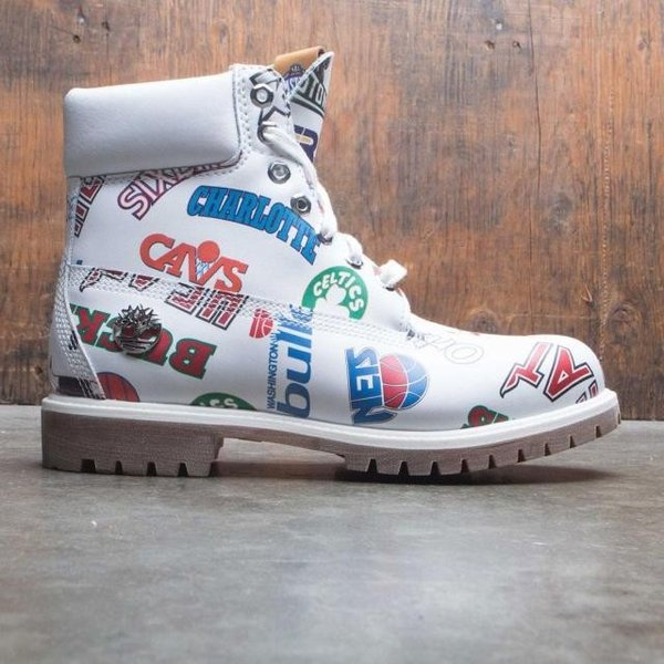 ユニセックス スニーカー シューズ Timberland x Mitchell and Ness NBA Men 6 Inch Boot (white / action leather)|sneakersuppliers