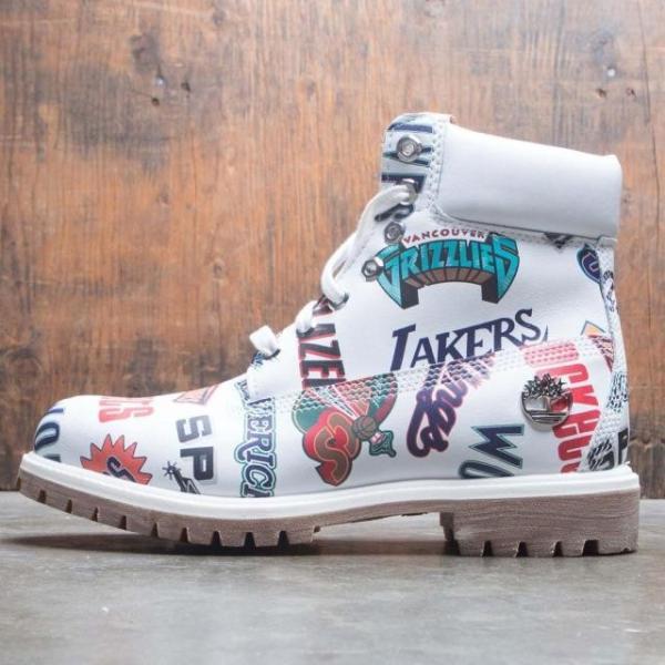 ユニセックス スニーカー シューズ Timberland x Mitchell and Ness NBA Men 6 Inch Boot (white / action leather)|sneakersuppliers|02