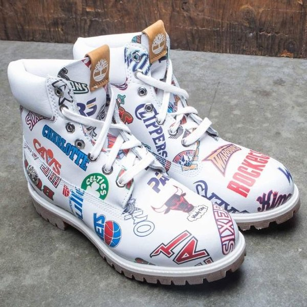 ユニセックス スニーカー シューズ Timberland x Mitchell and Ness NBA Men 6 Inch Boot (white / action leather)|sneakersuppliers|04