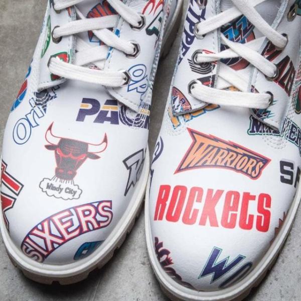 ユニセックス スニーカー シューズ Timberland x Mitchell and Ness NBA Men 6 Inch Boot (white / action leather)|sneakersuppliers|05