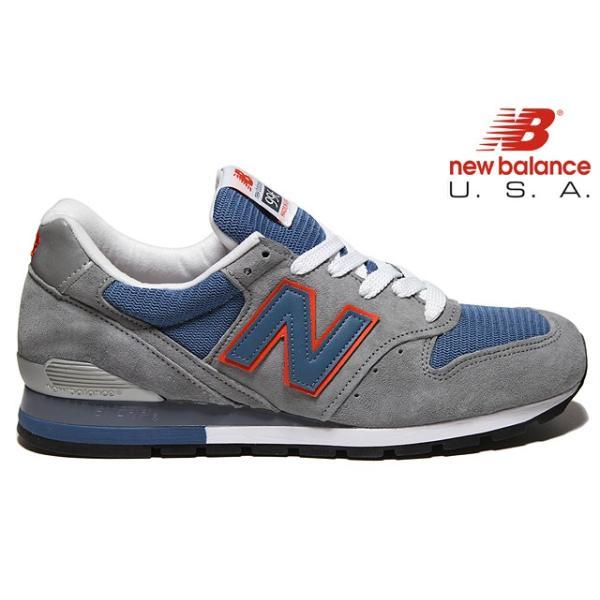 364886b226a9a NEW BALANCE M996 CSBO 「Made in U.S.A」 GRAY/BLUE ASHES/ORANGE WIDTH ...
