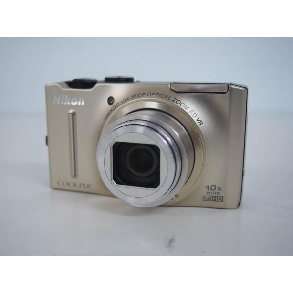 中古 ニコンNIKON コンパクトデジタルカメラ COOLPIXクールピクス S8100 プレシャスゴールド 1210万画素