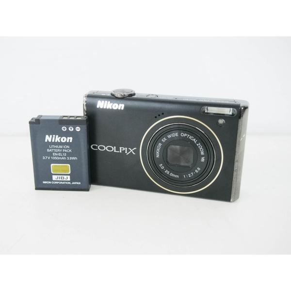 中古 ニコンNIKON コンパクトデジタルカメラ COOLPIXクールピクス 1220万画素 S640 ブラック