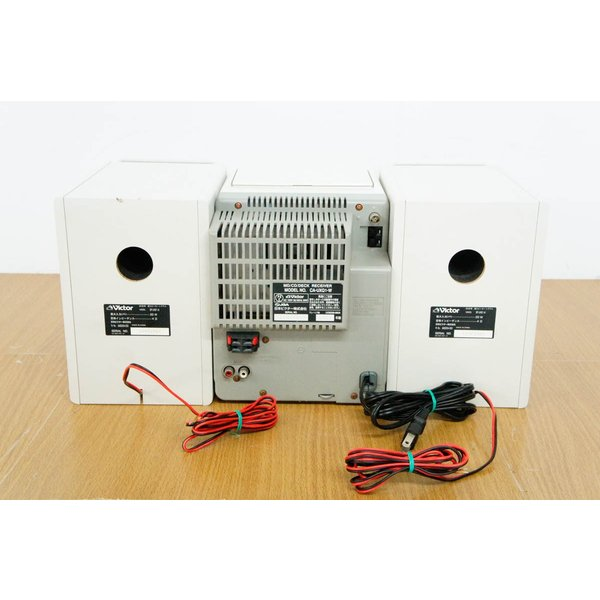 中古 JVC Victorビクター マイクロコンポーネントMDシステム CD/MD/カセットテープ/ラジオ MDLP対応 UX-Q1-W