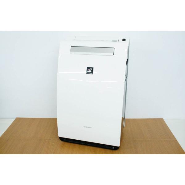 SHARP(シャープ) 加湿空気清浄機 KI-FX75-W ホワイト系 [プラズマクラスター搭載]の画像