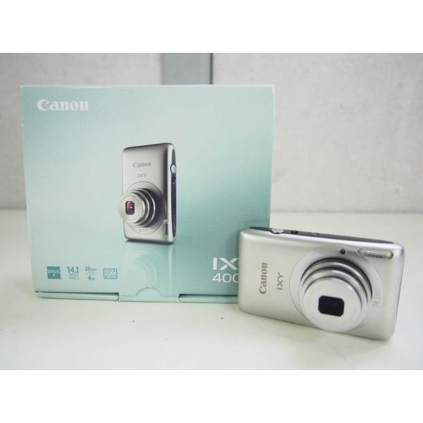【中古】Canonキャノン コンパクトデジタルカメラ IXYイクシー 1410万画素 IXY 400F シルバー