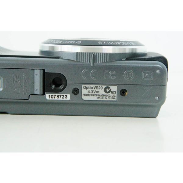 中古 PENTAXペンタックス コンパクトデジタルカメラ Optio VS20 ブラック