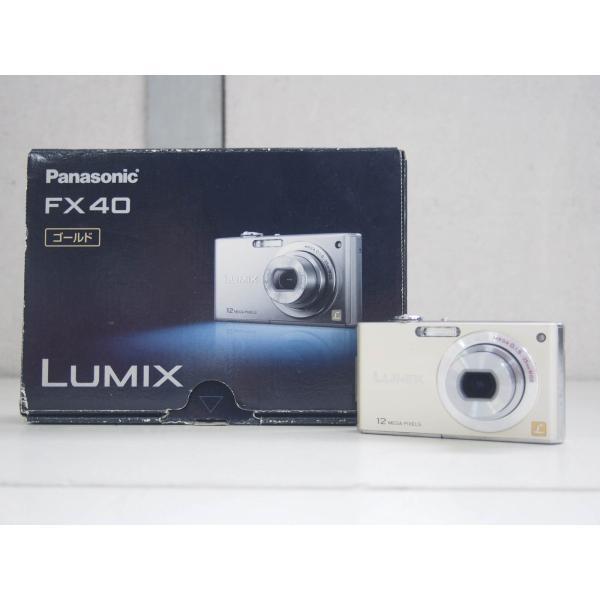 【中古】Panasonicパナソニック コンパクトデジタルカメラ LUMIXルミックス 1210万画素 DMC-FX40-N ゴールド