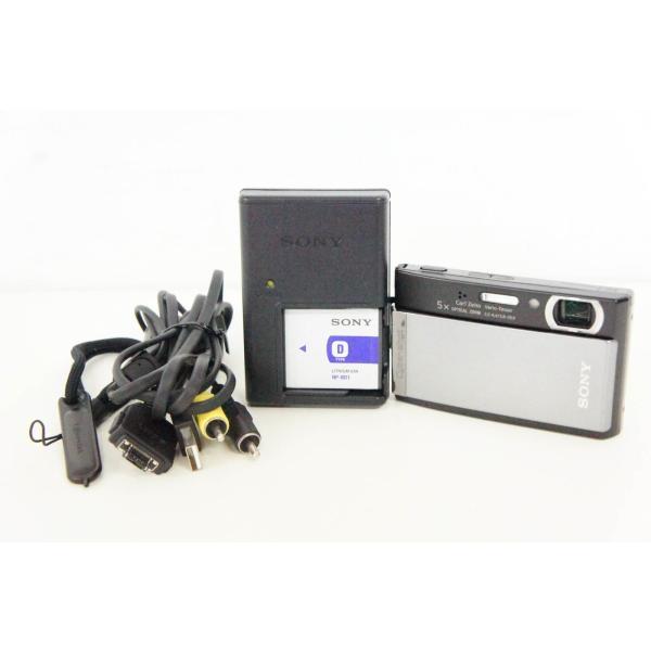 中古 SONYソニー コンパクトデジタルカメラ Cyber-shotサイバーショット 1010万画素 DSC-T300 シルバー