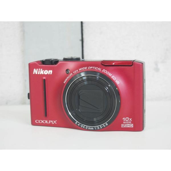 【中古】ニコンNIKON コンパクトデジタルカメラ COOLPIXクールピクス S8100 フラッシュレッド 1210万画素