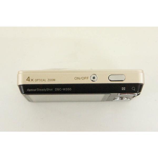 中古 SONYソニー コンパクトデジタルカメラ Cyber-shotサイバーショット 1410万画素 DSC-W350 ゴールド 光学4倍