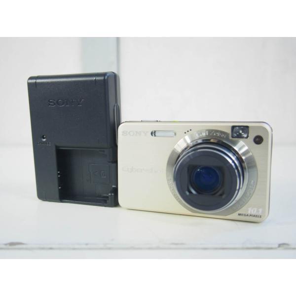 中古 SONYソニー コンパクトデジタルカメラ Cyber-shotサイバーショット DSC-W170 ゴールド