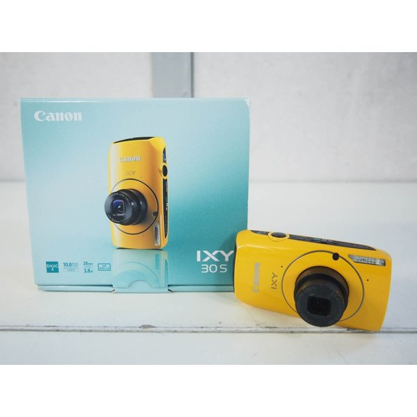 中古 Canonキャノン コンパクトデジタルカメラ IXYイクシー 1000万画素 IXY 30S YL イエロー