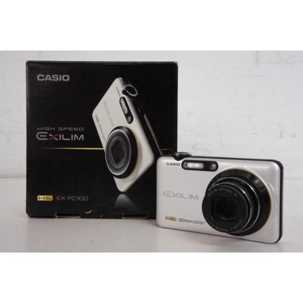 中古 CASIOカシオ コンパクトデジタルカメラ HIGH SPEED EXILIMエクシリム 910万画素 EX-FC100