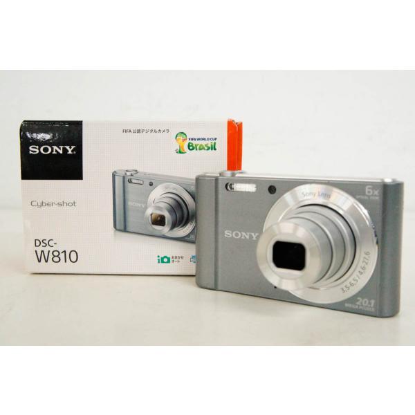 中古 SONYソニー コンパクトデジタルカメラ Cyber-shotサイバーショット DSC-W810 シルバー