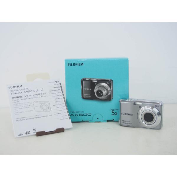 中古 FUJIFILM富士フィルム コンパクトデジタルカメラ FinePixファインピクス 1400万画素 AX600 シルバー