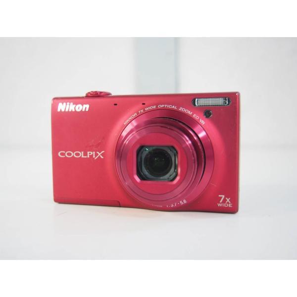 中古 ニコンNIKON コンパクトデジタルカメラ COOLPIXクールピクス 1600万画素 S6100 RD スーパーレッド